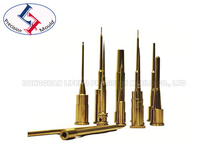 Precision core pin with TIN coating