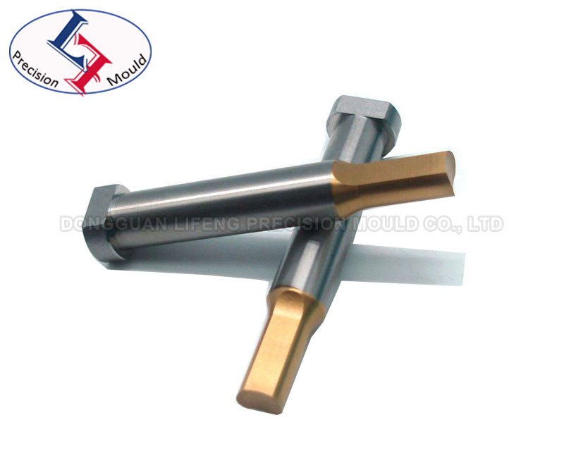 Round steel punch with TIN coating